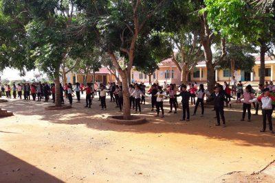 Bài tập thể dục giữa giờ trường TH&THCS Đinh Núp